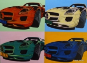 tableau sport automobile mercedes sls 63 amg coupe : TRIBUTE TO ANDY WARHOL